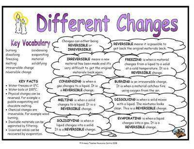 Different Changes Science Fact Mat