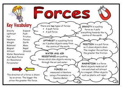 Forces Science Fact Mat and Display