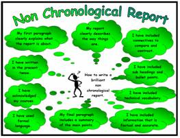 Non-Chronological Report Success Criteria Poster/Mat