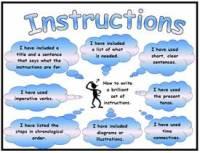 Instructions Success Criteria Poster