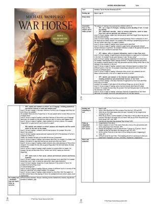 guided reading plans war horse michael morpurgo. Black Bedroom Furniture Sets. Home Design Ideas