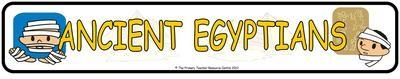 Ancient Egyptians Display Banner