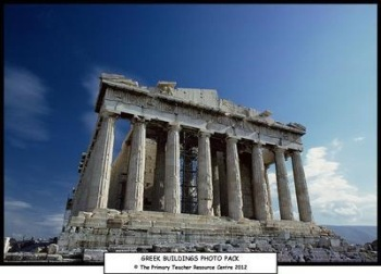 Greek Buildings Photo Display Pack