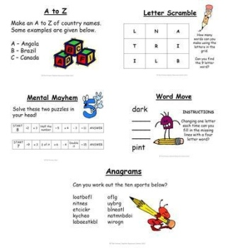Primary Puzzle - Summer Term Pack