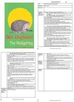 The Hodgeheg Guided Reading Plans