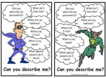 Character Description Posters - Superheroes Pack