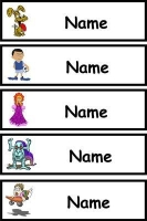 Blank Classroom Tray Labels - Clipart Pack