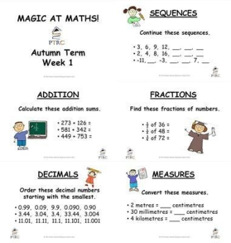 Year 5/6 Magic at Maths - Autumn Term Pack