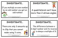 Maths Investigation Cards Pack 1