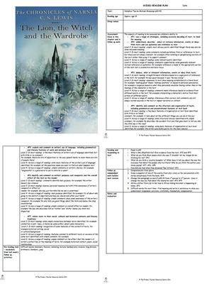 The Lion, the Witch and the Wardrobe Guided Reading Plans