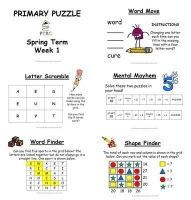 Primary Puzzle - Spring Term Pack