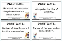 Maths Investigation Cards Pack 2