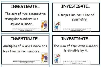 Maths Investigation Cards Pack 2