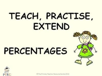 Percentages Powerpoint - Teach, Practise, Extend