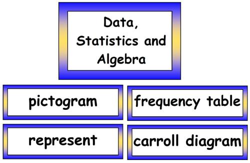 Maths Vocabulary - Data, Statistics and Algebra Vocabulary Cards