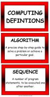 Computing Definition Display Pack