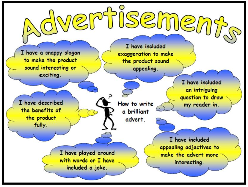 Advertisements Success Criteria Poster and Mat