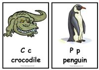 Animal Alphabet Display Posters