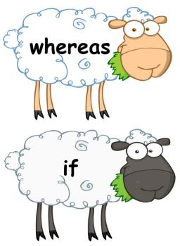 Conjunction Display Posters - Sheep