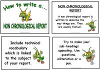How to Write - Non Chronological Report Display & Poster Pack