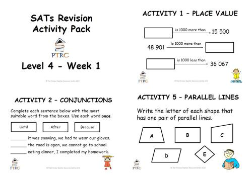 SATs Revision Activity Pack - Level 4