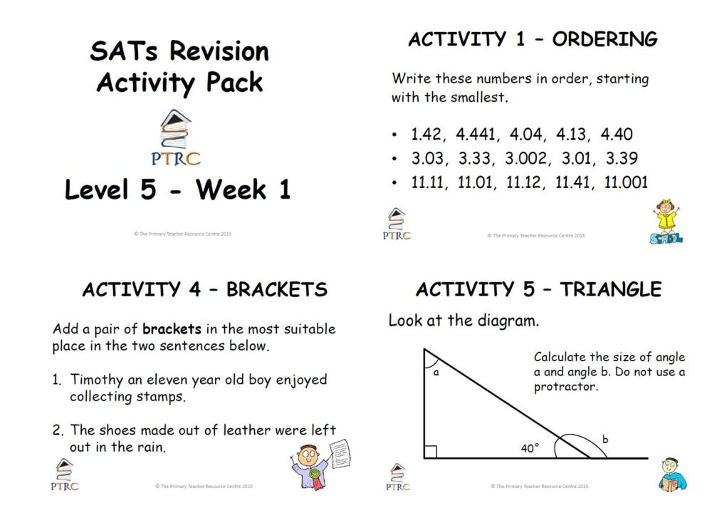 Sats Revision Activity Pack Level 5