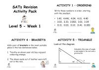 SATs Revision Activity Pack - Level 5