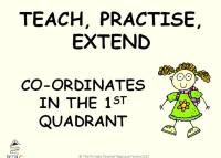 Coordinates in the 1st Quadrant Powerpoint - Teach, Practise, Extend