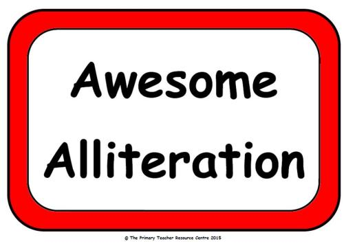 Alliteration Display Poster Pack