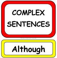 Complex Sentences Display Poster Pack