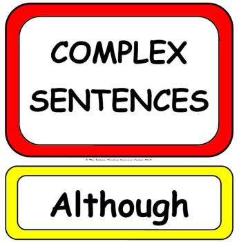 Complex Sentences Display Poster Pack