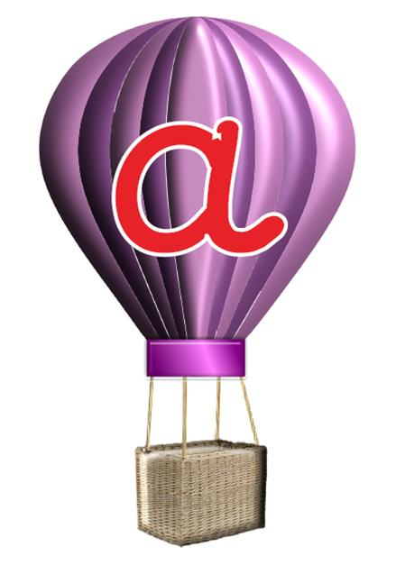 Hot Air Balloons Alphabet Display Posters