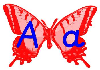 Butterfly Alphabet Display Posters
