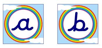 Rainbow Alphabet Display Posters