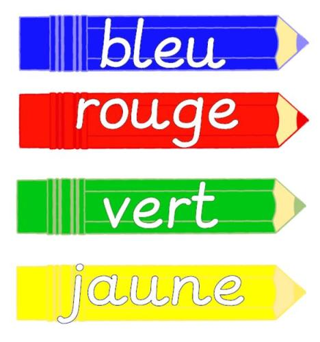 French Colour Vocabulary Cards