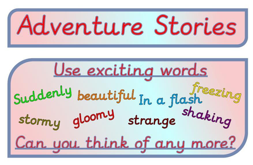 Desert island adventure – story starter