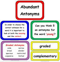 Antonym Display Poster Pack