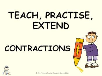 Contraction Powerpoint - Teach, Practise, Extend
