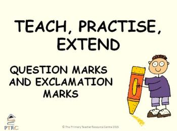 Exclamation Mark and Question Mark Powerpoint - Teach, Practise, Extend