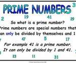 Prime Numbers Poster - FREE