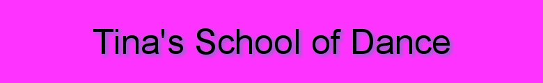 Tina's School of Dance, site logo.