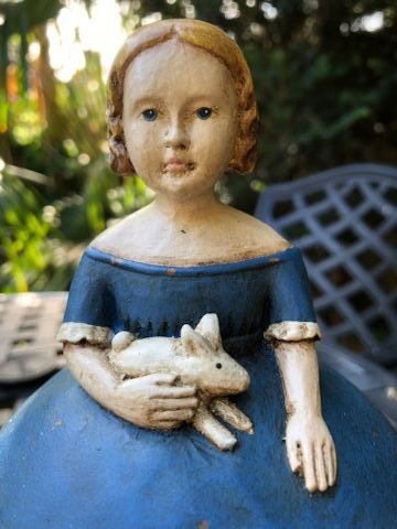 Victorian Girl with Rabbit Box