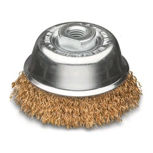 <!-- 025 -->Brass Wire Cup Brush 100mm (Industrial Spec)