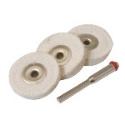 Cotton Polishing Wheels 25mm