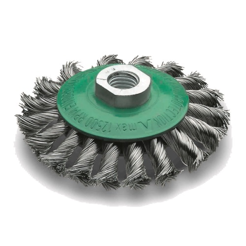 <!-- 015 -->Stainless Steel Twist Knot Bevel Brush 115mm