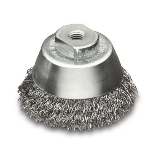 <!-- 015 -->Steel Wire Cup Brush 75mm - M10 x 1.25