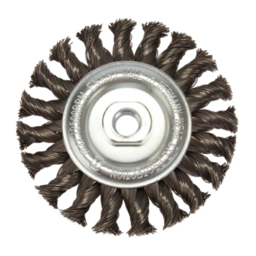 <!-- 070 -->Twist Knot Wire Wheel 115mm x M14 (Industrial Spec)
