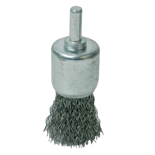 <!-- 015 -->Crimped Steel Wire End Brush 24mm