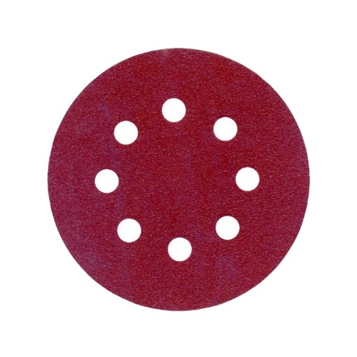 Hook and Loop Sanding Discs 125mm 8 Hole P80 (Qty 10)