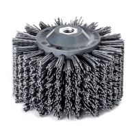<!-- 015 -->Abrasive Nylon Wheel Brush 140mm x 90mm - M14